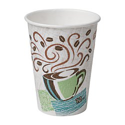 PerfecTouch 5342CD Insulated Paper Hot Cup, Coffee Dreams Design, 12 oz Capacity (20 Packs of 50)