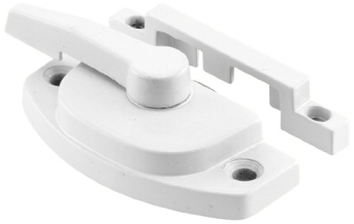 White Heavy Duty Draw Slide - Slide-Co 171696 Window Sash Lock with Keeper, Cam Action, White Finish