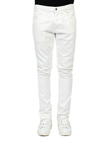 Valentino Homme MV3DEC1J4200BO Blanc Coton Jeans