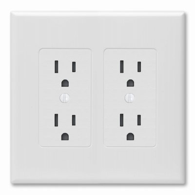 Raco Incorporated 5 Packs WHT 2G Deco Wall Plate ()