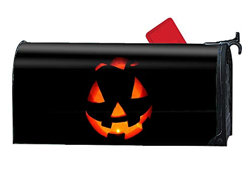 jiajufushi Halloween Pumpkin Simple Mailbox Cover Decorative Garden Magnetic Makeover Standard