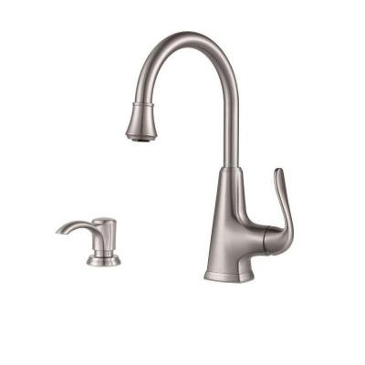 Pfister Pasadena Single-Handle Bar Faucet in Stainless Steel by Pfister