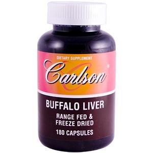 Carlson Labs Buffalo Liver, Range Fed and Freeze Dried, 180 Capsules