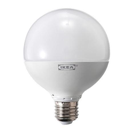IKEA ledare - Bombilla LED E27, regulable, globo blanco opal / 95 mm / 95 mm - 1,000 lm: Amazon.es: Hogar