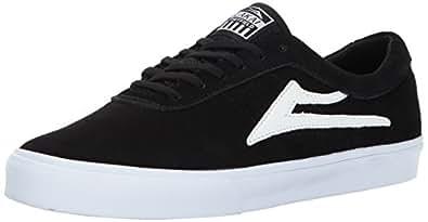 Lakai Sheffield Skate Shoe, Black Suede, 8 M US