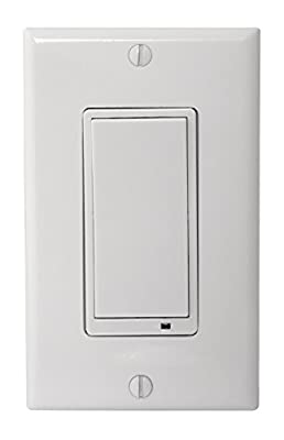 GoControl WS15Z-1 Z-Wave Non-Dimming Wall Switch, White
