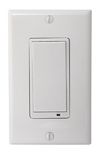 LINEAR GoControl, WS15Z-1, Zwave Wall Mount Switch,White,Small ()
