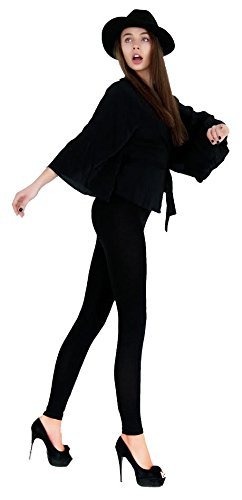 Rituali X Halloween (EP128-3X5X-Black Basic Solid Leggings,)
