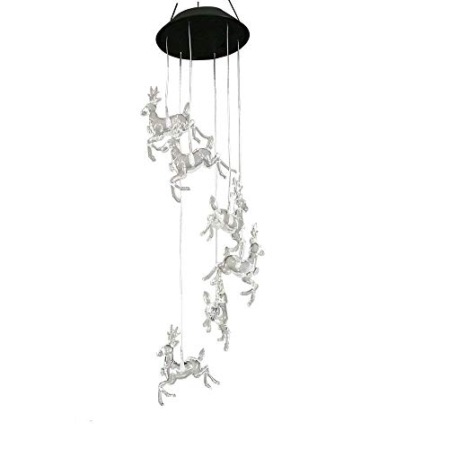 - Youqian Solar Deer Wind Chimes, Color-changing Moving Rotating Wind Chime Waterproof Automatic Light Sensor Outdoor Decor for Home Party Balcony Porch Patio Garden
