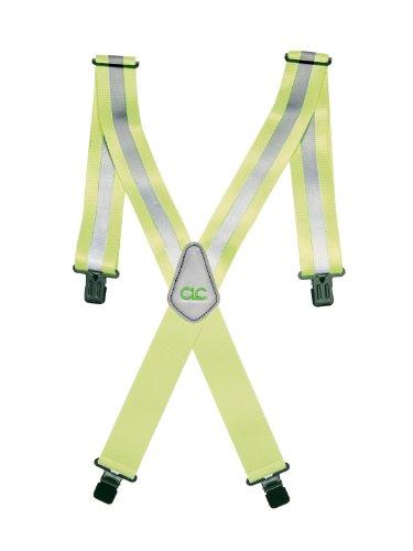 CLC Custom Leathercraft Hi-Viz Gear 14110 Heavy-Duty Hi-Viz Gear Suspenders