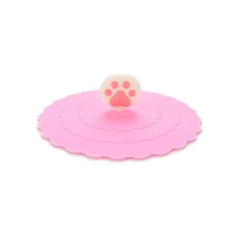1 Pcs Cat Claws Anti-dust Silicone Glass Cup Cover Coffee Mug Suction Seal Lid Cap By Crqes