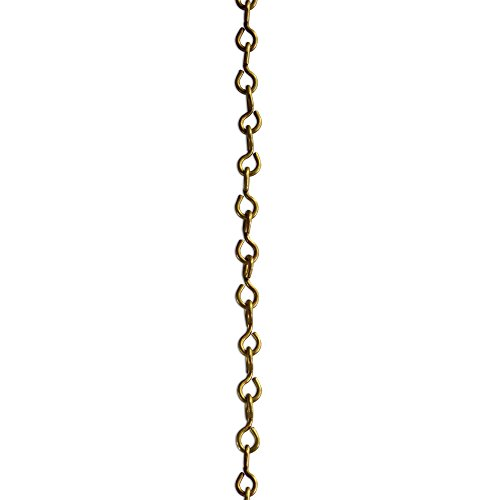 RCH Hardware CH-20L-AB-3 Decorative Solid Chain for Hanging Large Light Unwelded Wire (3 ft/1 Yard) (Antique - Light Ab3