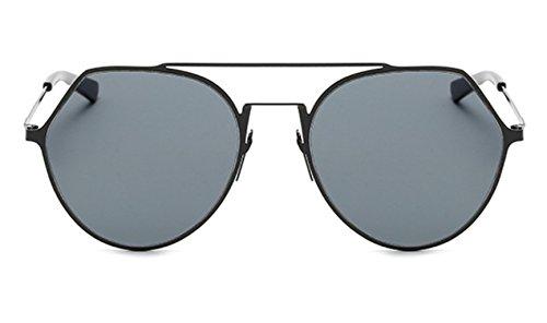 de soleil nouveaux Sucatle le la acier les rétro et inoxydable les mode lunettes verres métaux lunettes soleil semi couleur circulaires soleil de femmes Sucatle Les hommes mode film AHqx4Hp5