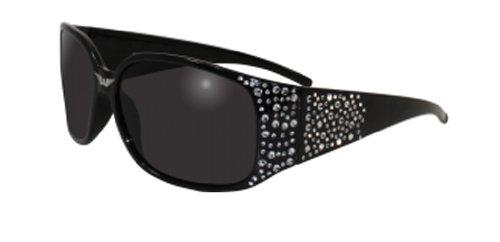 Global Vision Eyewear Galaxy Sunglasses, Smoke Tint Lens, Black Bling - Motorcycle Helmet Sunglasses