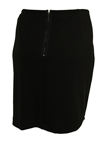 Alfani Womens Plus Matte Jersey Asymmetric Pencil Skirt Black 22W