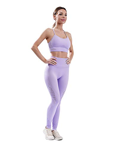 (HERA x HERO XO Super Comfy Seamless Athletic Sports Bra for Women | Our Signature Aesthetic Fit, Womens Purple)
