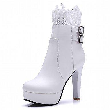 RTRY Zapatos De Mujer De Piel Sintética Pu Novedad Moda Otoño Invierno Confort Botas Botas Chunky Talón Puntera Redonda Botines/Botines Hebilla Parte &Amp; US5 / EU35 / UK3 / CN34