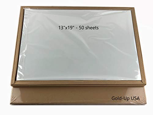 13 x 19 Inch Waterproof Inkjet Transparency Film for Silk Screen Printing - 1 Pack (50 Sheets)