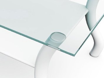 Fab Glass and Mirror 42SQR6THFLTE Square Glass Top Flat Polished Tempered Eased Corners Table 42