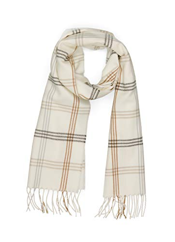 INVERNO Super Soft Luxurious Cashmere Feel Warm Winter Pattern Design Unisex Scarf (Cream Plaid) ()