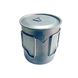 DESERT WALKER Titanium 750ml Pot Backpacking Camping Open Fire Mug Cup with Lid