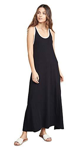 SUNDRY Women's Ringer Maxi Dress, Black, 3