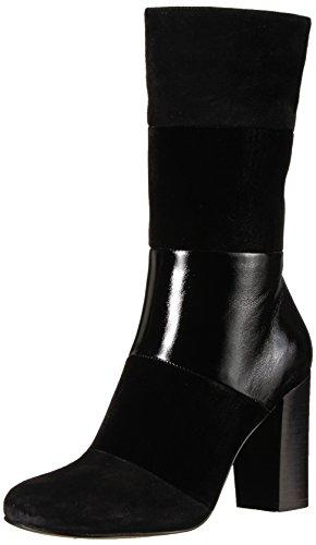 The Fix Women's Skylar Mid-Shaft Material-Block Boot, Black, 8.5 B US by The Fix