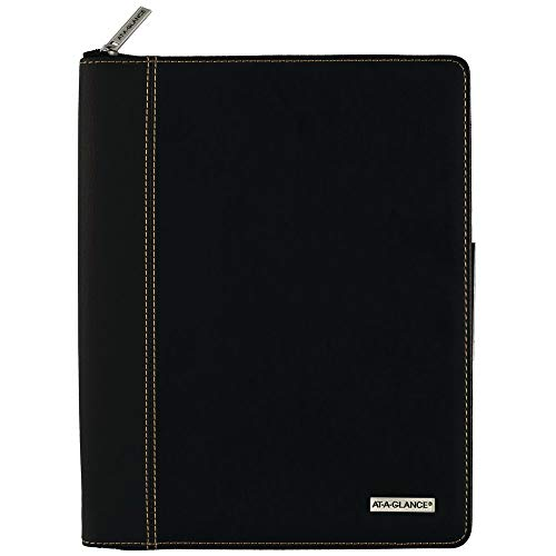 """AT-A-GLANCE 2020 Weekly & Monthly Planner/Appointment Book, 8-1/4"""" x 11"""", Large, Executive, Black (70NX8105)"""