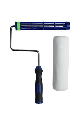 Precision Defined Self-Lock Paint Roller Frame and Roller Cover Set, with Durable Anti-Fatigue Soft Grip Handle (9-Inch)