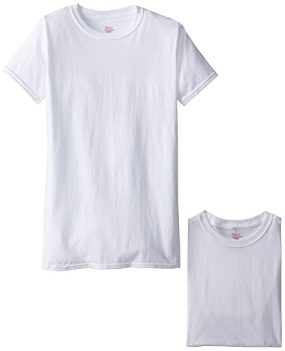 Hanes Big Boys'  Crew Style Undershirt (Pack of 4)