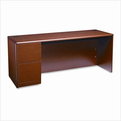 Finish Cherry Waterfall Henna 10700 - HON Left Pedestal Credenza, 72 by 24 by 29-1/2-Inch, Henna Cherry