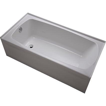 Mirabelle MIRBDS6030L Bradenton 60u0026quot; X 30u0026quot; Three Wall Alcove  Soaking Tub ...