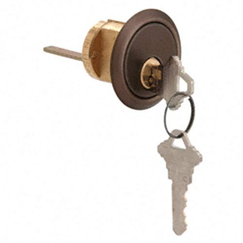 CRL Dark Bronze Rim Cylinder 5 Pin with Keyed Alike Schlage - Rim 5 Pin Cylinder