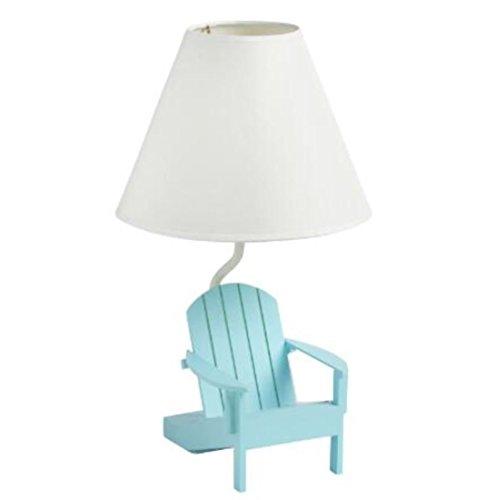 Blue Adirondack Chair Table Lamp 13.5