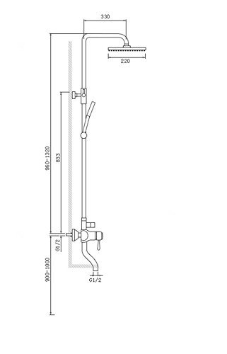 ZQG Nordic complet cuivre corps troisi/ème vitesse costume noir carr/é mat douche noir baignoire robinet moderne mode simple et g/én/éreux