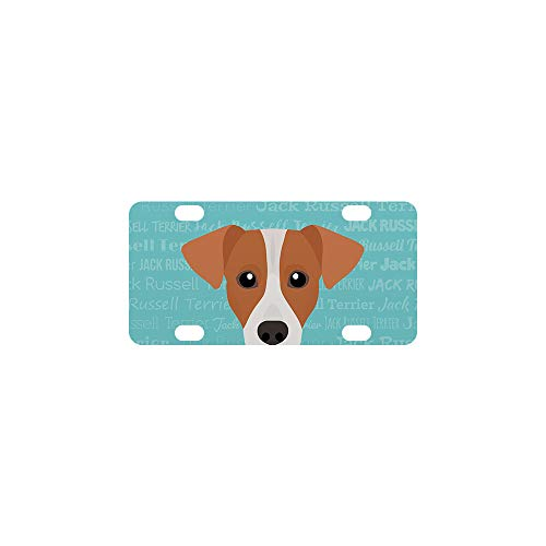 Mystic Sloth Adorable Dog Breed Specific Novelty License Plate (Jack Russell Terrier, Mini)