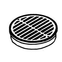 Nds Inc Grate Round Black 6In 0660SDB ()