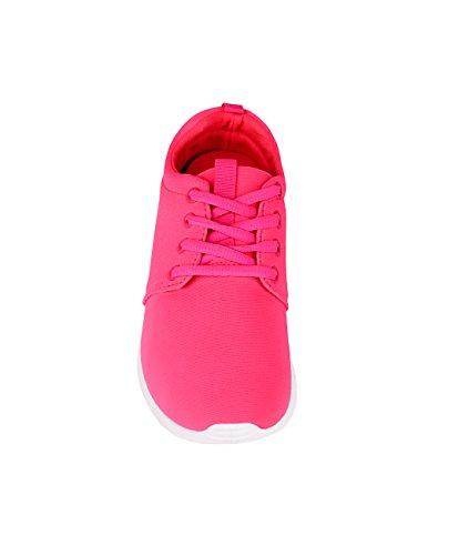 KRISP Damen Sneaker Sportschuhe Streetwear Rosa (16910)