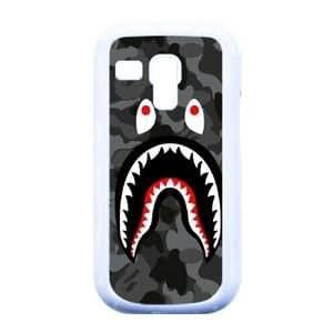 Bape Shark Black Army Pattern ,TPU Phone case for Samsung Galaxy S3 Mini i8190,white,1600Z489VO