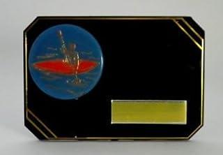 7,6x 10,2cm Plastique Noir et Or plaque