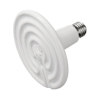 Generic 125mm Blanc infrarouge en céramique émetteur de chaleur ampoule lampe 220V AC