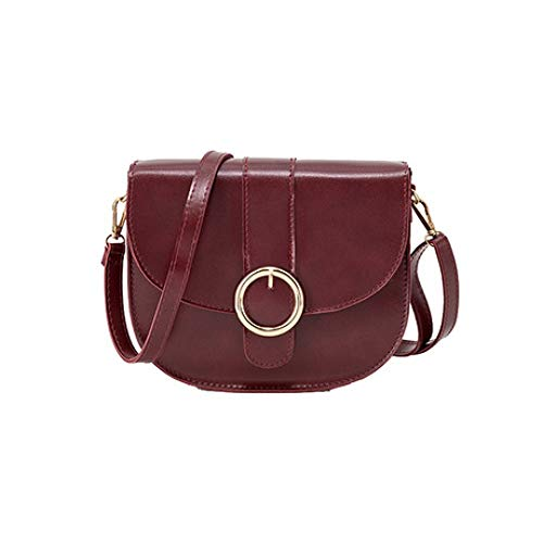 Lady à bandoulière Petit Women New main Sacs coréenne Vin Sac Zhwei à carré Fashion Marron Version Rouge couleur paquet Simple ARtZxq8w