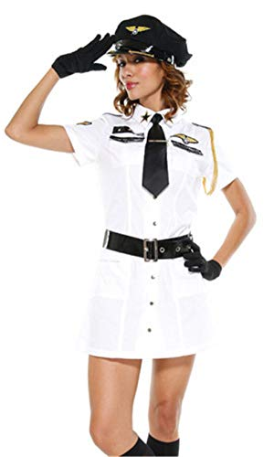 STFW6HG Women Airline Waitress Cosplay Costume Sexy Stewardess