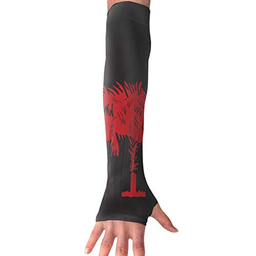 ZP-CCYF Men Women Arm Protection Sleeve Black Garnet South Carolina UV Protection Cooling Or Warming Arm Sleeves for Basketball ()