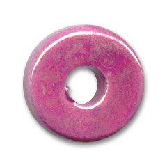 Rondel in ceramica mm. 15 Fucsia iridato