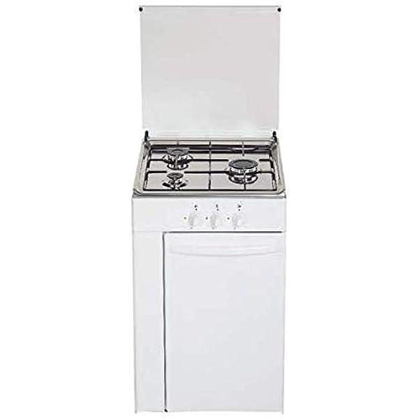 Cocina de gas butano/natural HVG CPB, 3 quemadores, acabado Blanco: Amazon.es: Grandes electrodomésticos