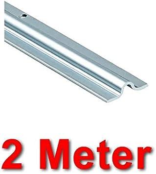 Typ SLIDUP 1600-U15 f/ür SLIDUP 1600 Schiebetorbeschlag zum Anschrauben f/ür bodenl/äufige Schiebetore bis 400 kg 195 cm aus verzinktem Stahl Laufschiene