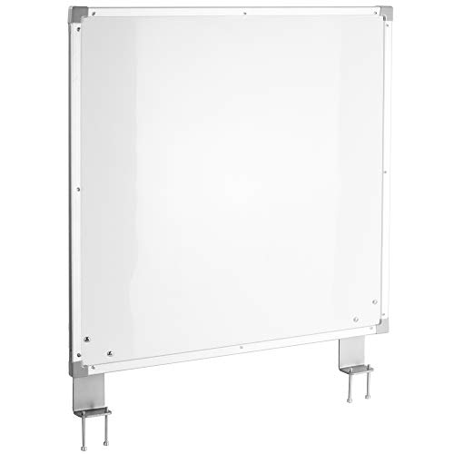 VIVO Clamp-on Desk 24 x 24 inch Dry Erase Board Stand Privacy Divider | Double-Sided Magnetic Whiteboard Panel with Aluminum Frame (DESK-WB24C)