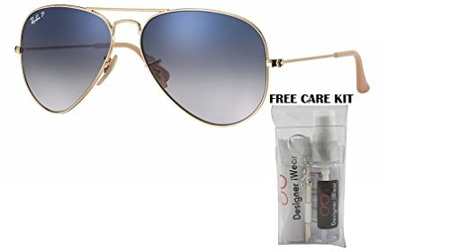 73e89ab7576 Image Unavailable. Image not available for. Colour  Ray-Ban Aviator  Polarized RB 3025 001 78 58mm Gold Frame Blue Gradient Polarized