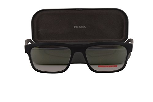 Prada PS07GV Eyeglasses 55-18-140 Gray Rubber w/Demo Clear Lens TFZ1O1 VPS07G VPS 07G PS - 4 Sunglasses Less 07